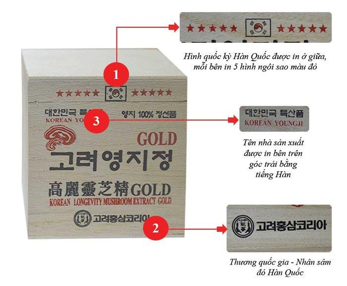 Cao Linh Chi Núi 6 năm tuổi – hộp gỗ trắng Gold L030