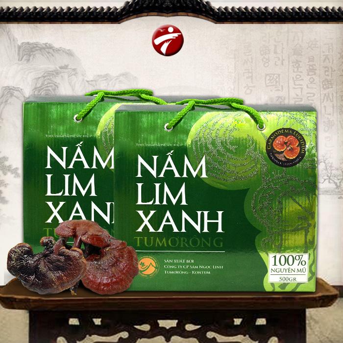 Nấm lim xanh tự nhiên nguyên tai Kon Tum Tumorong loại 0,5kg/hộp L300