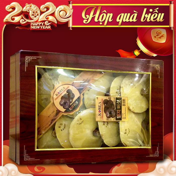 Nấm linh chi đỏ thượng hạng Hàn Quốc hộp quà biếu L047