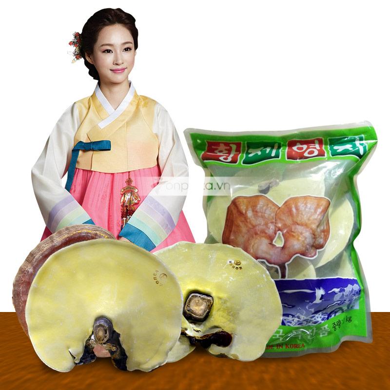 Nấm linh chi vàng Hàn Quốc.