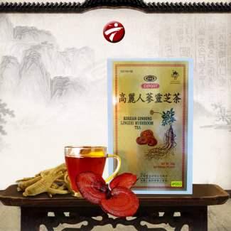 Trà sâm Linh chi hộp vàng Hàn Quốc NS087